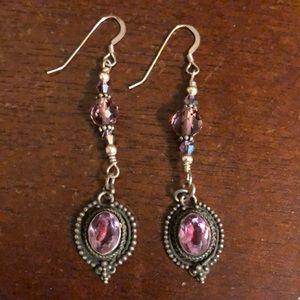 Jewelry - Amethyst Drop Earrings